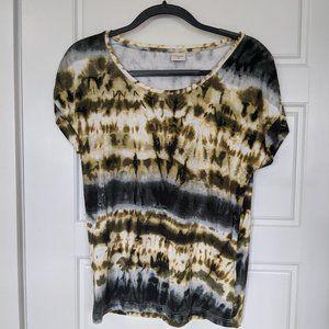 Tie-Dye Scoop Neck T-Shirt